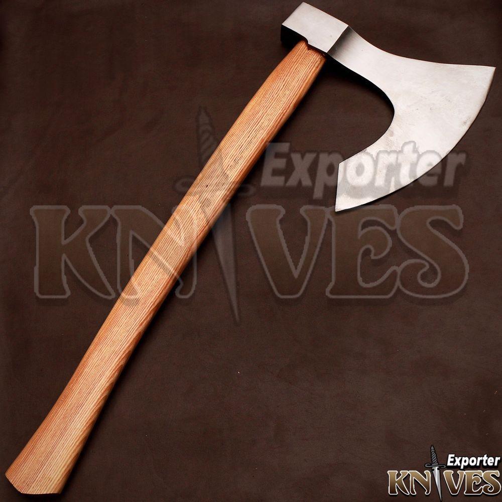 Knives Exporter Custom Damascus Steel Forest Bearded Axe ...