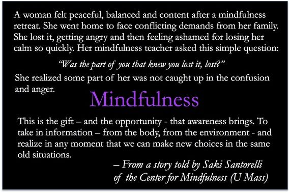Mindfulness: A Declaration Of Health Independence