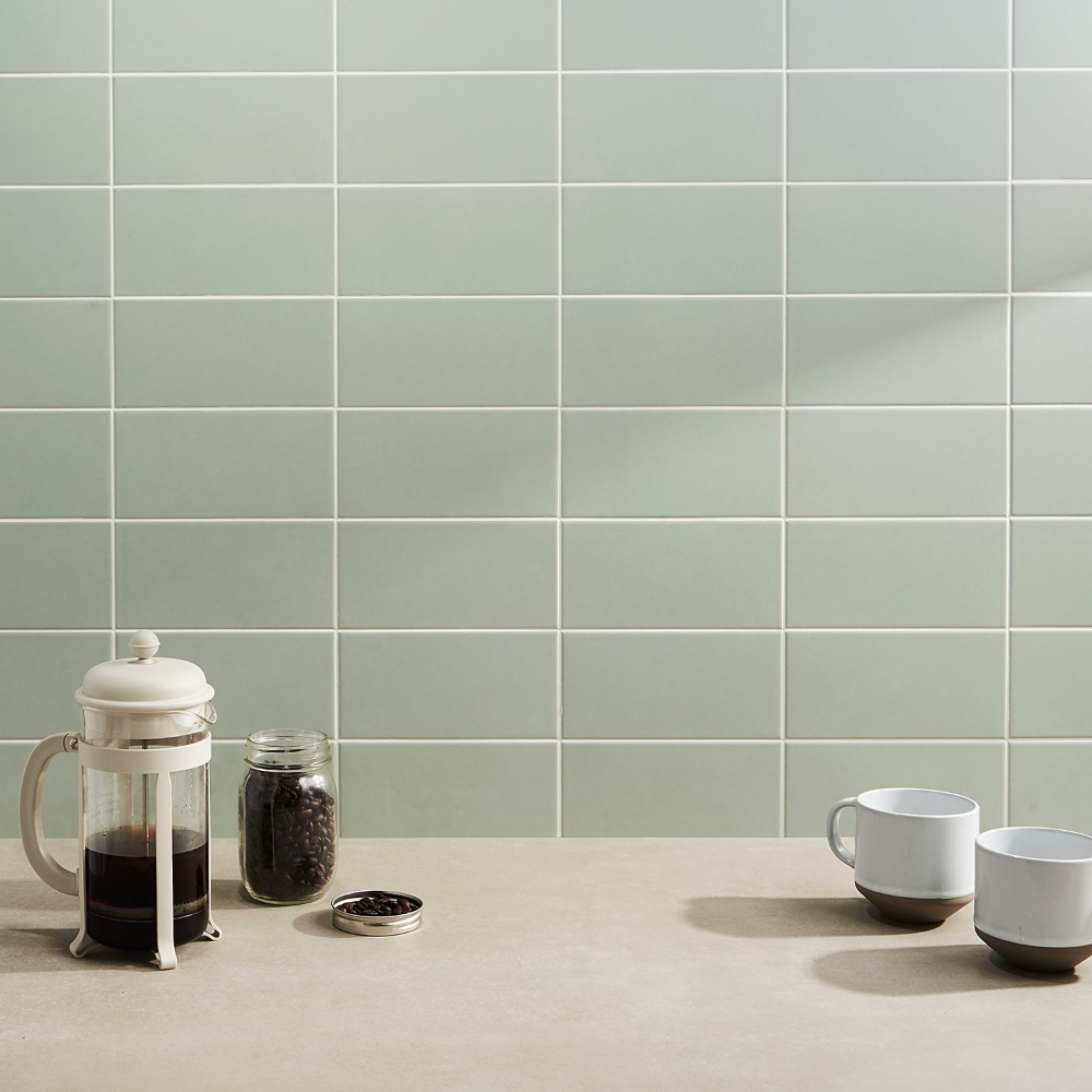 Stacy Garcia Maddox Mineral Green 4x8 Matte Ceramic Tile In 2020 Ceramic Wall Tiles Ceramic Tiles Bathroom Wall Tile
