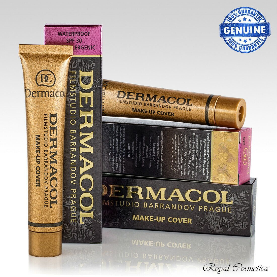 Dermacol High Cover Makeup Foundation Authentic Waterproof