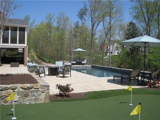 Trilogy Aquarius Fiberglass Pool With Inlays And Pebble Tile Home And  Garden Design Ideas!