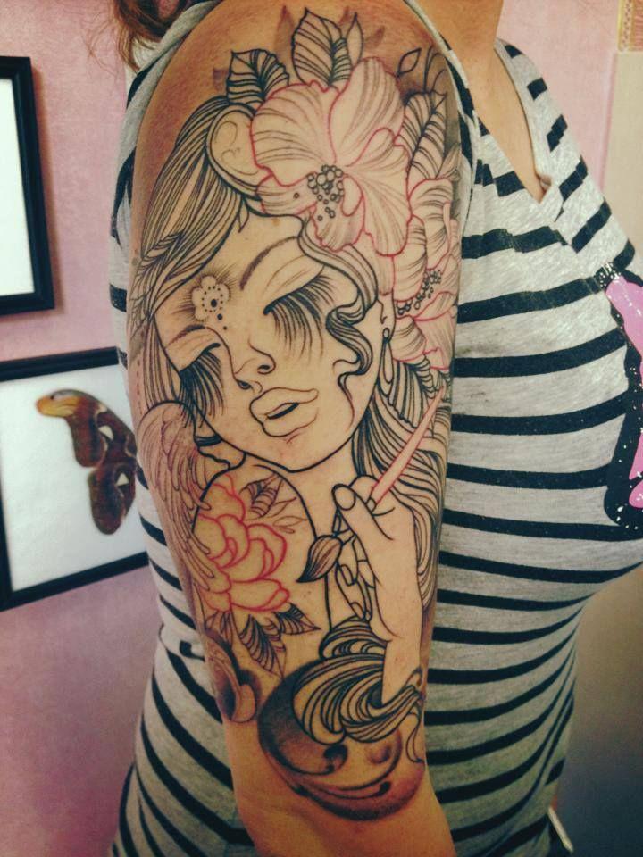 Christin GloriousInk on Facebook Cute tats, Neck tattoo