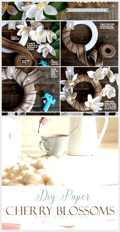 Photo of DIY Paper Magnolia Wreath – Lia Griffith