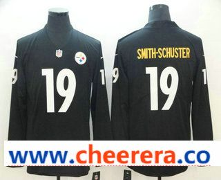 6c054e8efc6 Men s Pittsburgh Steelers  19 JuJu Smith-Schuster Nike Black Therma Long  Sleeve Limited Jersey