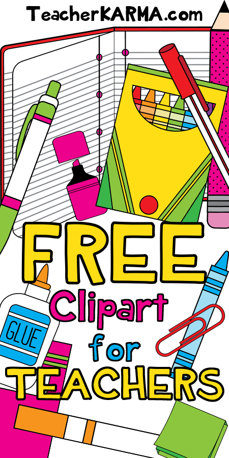 free clipart for teachers school supplies teacherkarma com rh pinterest com