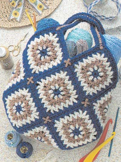 Tapestry Tote Bag Free Pattern Love The Crosses At The Corners