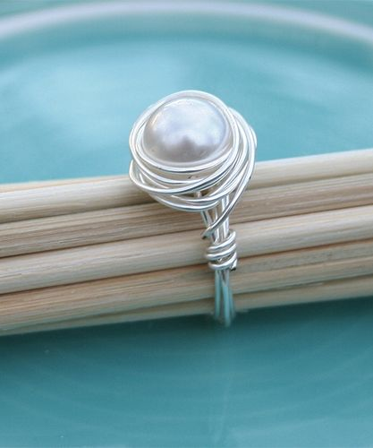 Pearl Nest Ring :: The Vintage Pearl