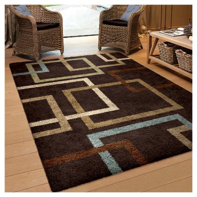 Mocha Solid Woven Area Rug 5 3 X7 6 Orian Area Rugs Cool Rugs Orian Rugs