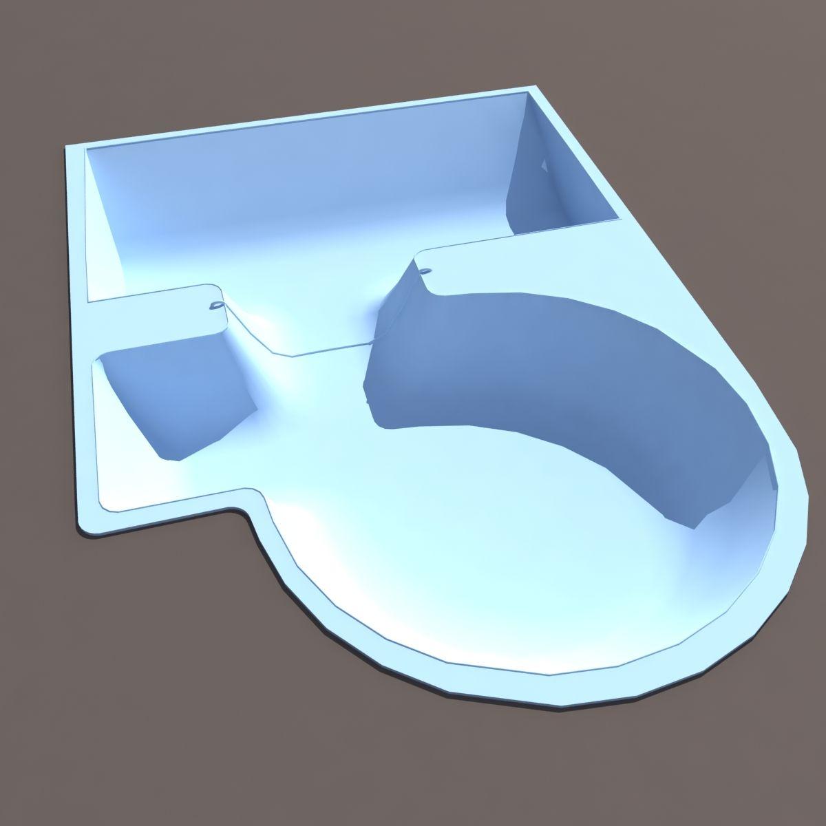 Skate Swimming Pool Low poly 3d Model #Swimming, #Skate, #Pool ...