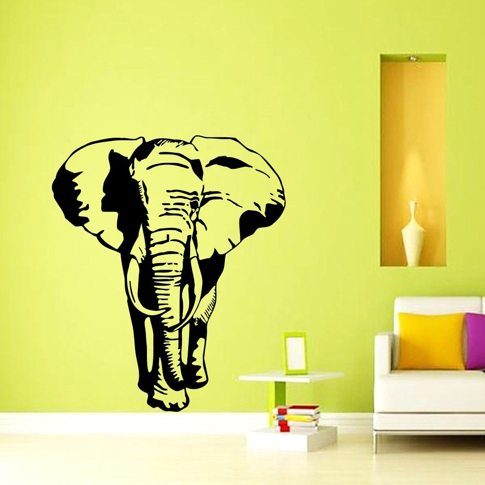 Wall Decals Indian Elephant Tribal Ganesh Bedroom Vinyl Sticker Wall ...