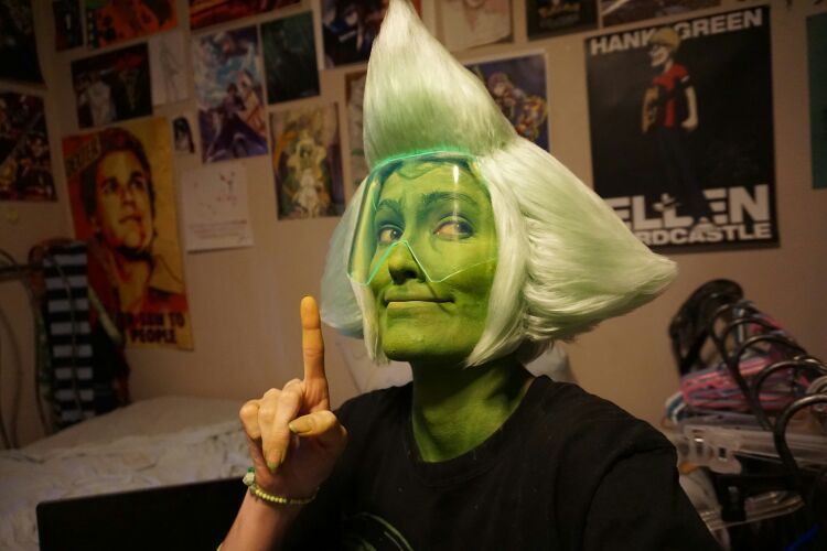 Peridot Wig Example And Yarn Wig Tutorial Omg Cosplay Pinterest
