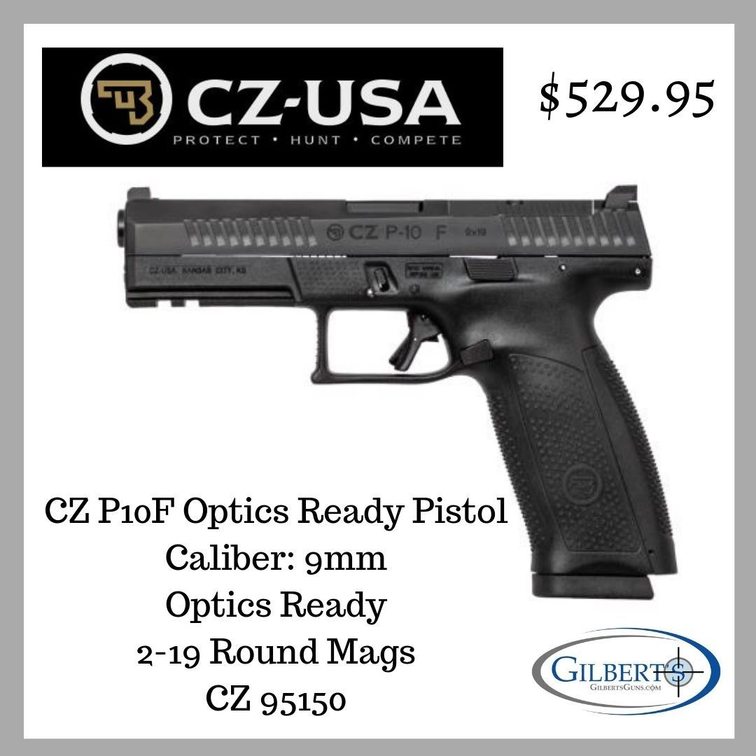 CZ P10F 9mm Optics Ready Pistol 95150 | Handguns | 9mm pistol, Hand