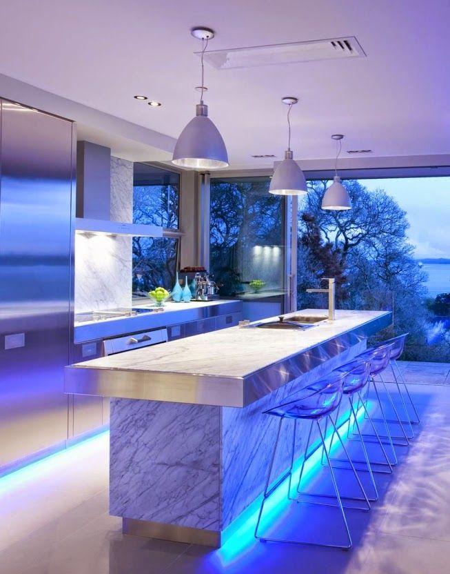 Eclairage Contemporain De La Cuisine Luminaire Pinterest - Spot led meuble cuisine pour idees de deco de cuisine