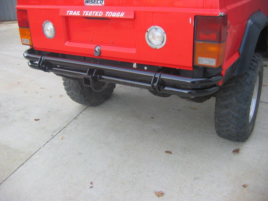 Rusty S Offroad Xj Cherokee Rear Pre Runner Tube Bumper With Receiver Hitch Xe Cộ