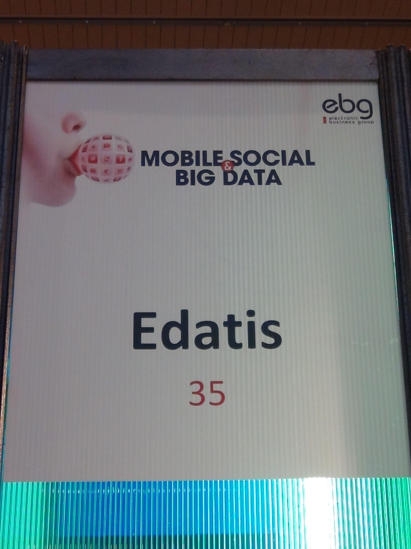 Edatis à l'événement Mobile, Social & Big Data, organisé par #ebg