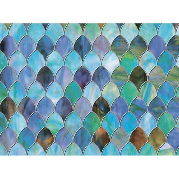 Peacock Premium Privacy Window Decal Liked On Polyvore - Window stickers for home privacy