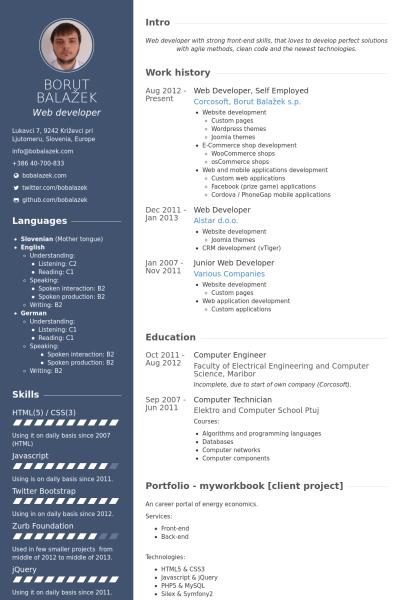 Web Developer Self Employed Resume Example HARINDRA