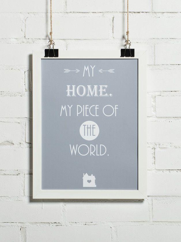 Plakat - My home 30x40 cm (+inne rozmiary) - BonzooBox - Plakaty typograficzne