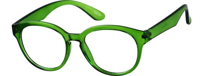 Green Flexible Plastic Full-Rim Frame #206024 | Zenni Optical ...
