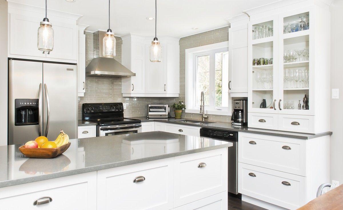 Cuisine milano armoires de cuisines qu bec cl en main for Armoire blanche cuisine