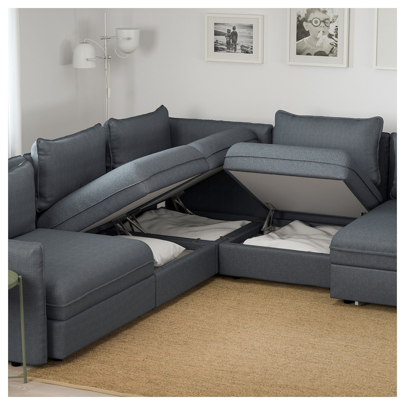 Us Furniture And Home Furnishings Ikea L Shaped Sofa Bed