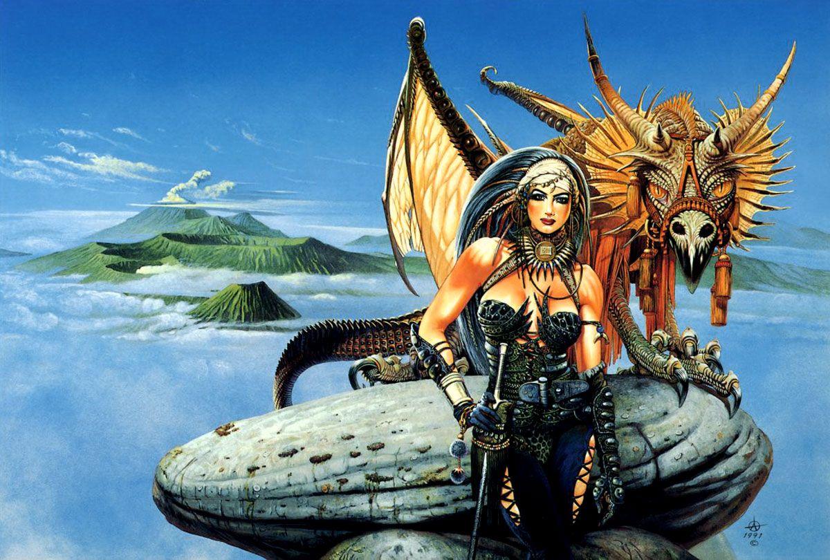 большое картинки амазонки и драконы сочетание нежного куриного