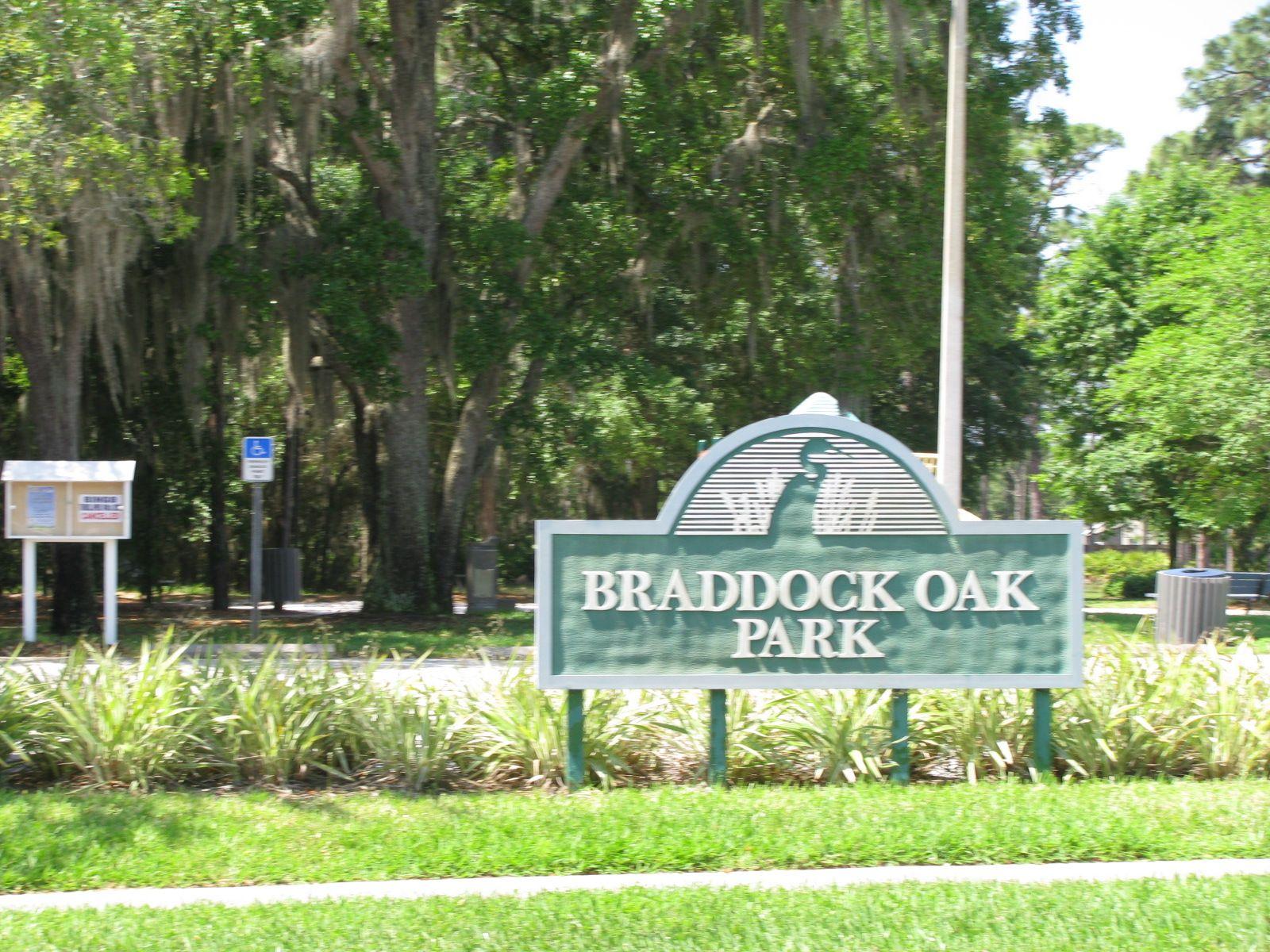 Hunters Creek Braddock Oak Park Entrance Hunters creek