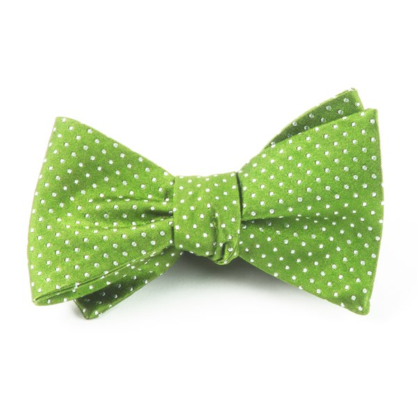 Apple Green Pindot Bow Tie Mens Bow Ties Bows Tie