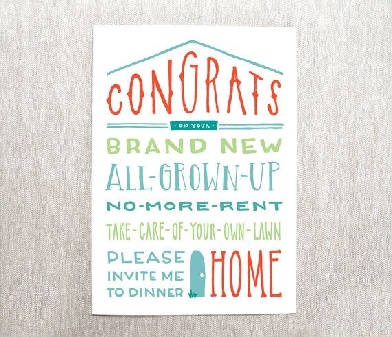 congrats on your new home card new house card recycled paper