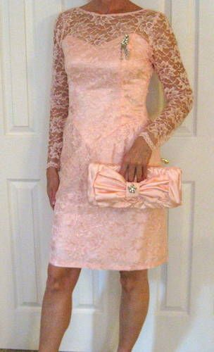 $1 HORRIBLE Pink Lace Prom Dress