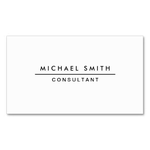 Plain white professional elegant modern simple business card plain white professional elegant modern simple double sided standard business cards pack of 100 colourmoves