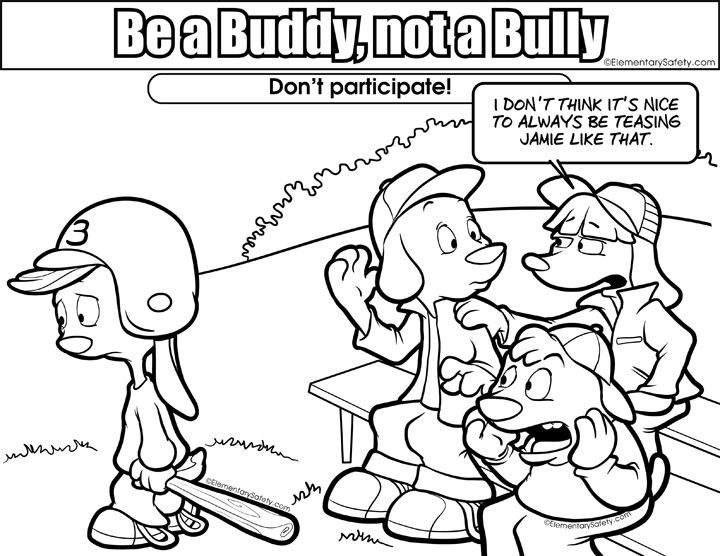 Colouring Page Elementary Safety Bullying Activities Anti Bullying Bullying Activities Elementary