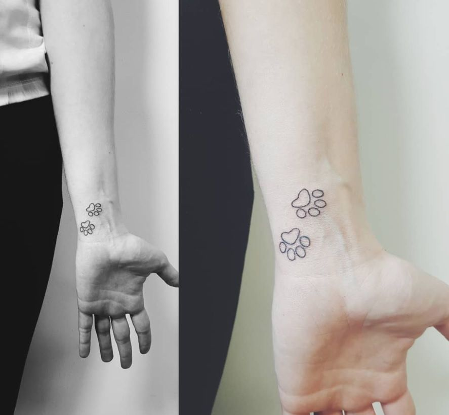 The 80+ Cutest Paw Print Tattoos Ever