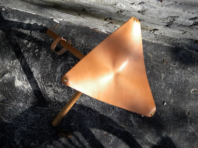 Camping Leather Stool