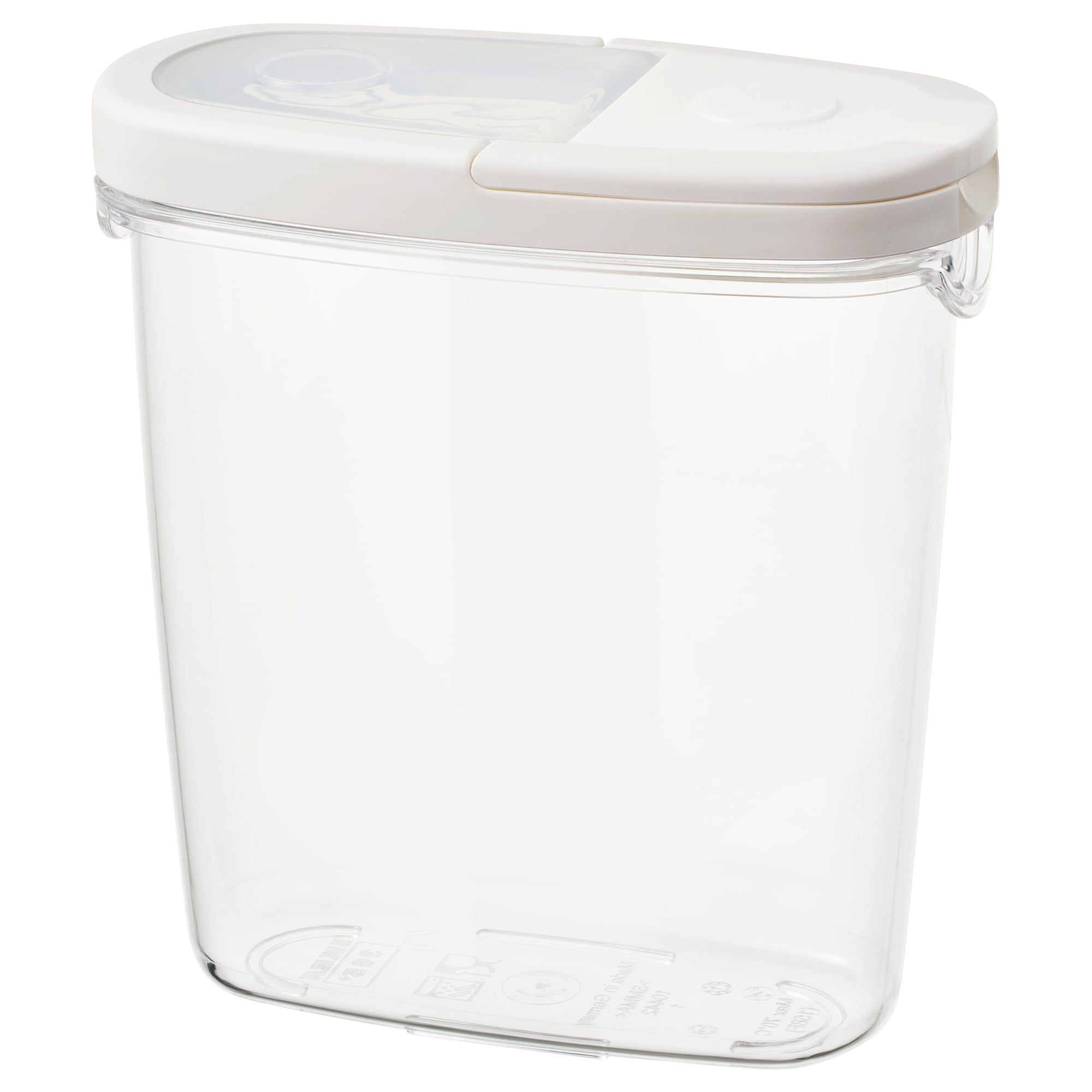 365 Dry Food Jar With Lid Clear White Length 7 Width 3 Volume 44 Oz Learn More In 2020 Ikea Food Storage Food Storage Organization Ikea Kitchen Storage