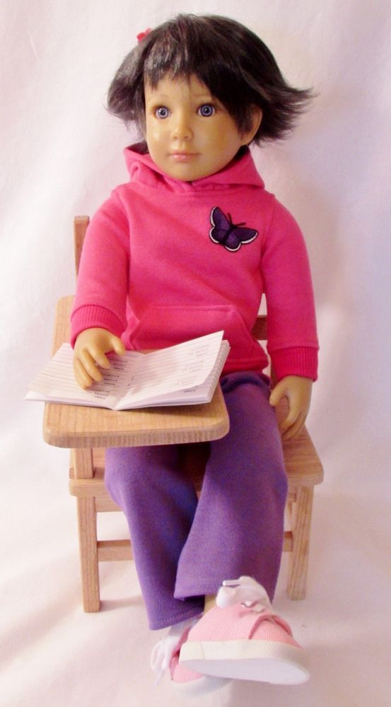 "Adorable Pink Hoodie & Sweatpants for your Kidz N Cats Dolls - Slim 18"" Dolls #Unbranded"