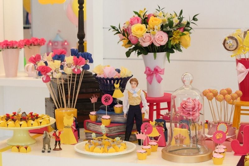 Belle Birthday Decorations Festa Bella Y Bestia  Decoracion Fiestas  Pinterest  Girl