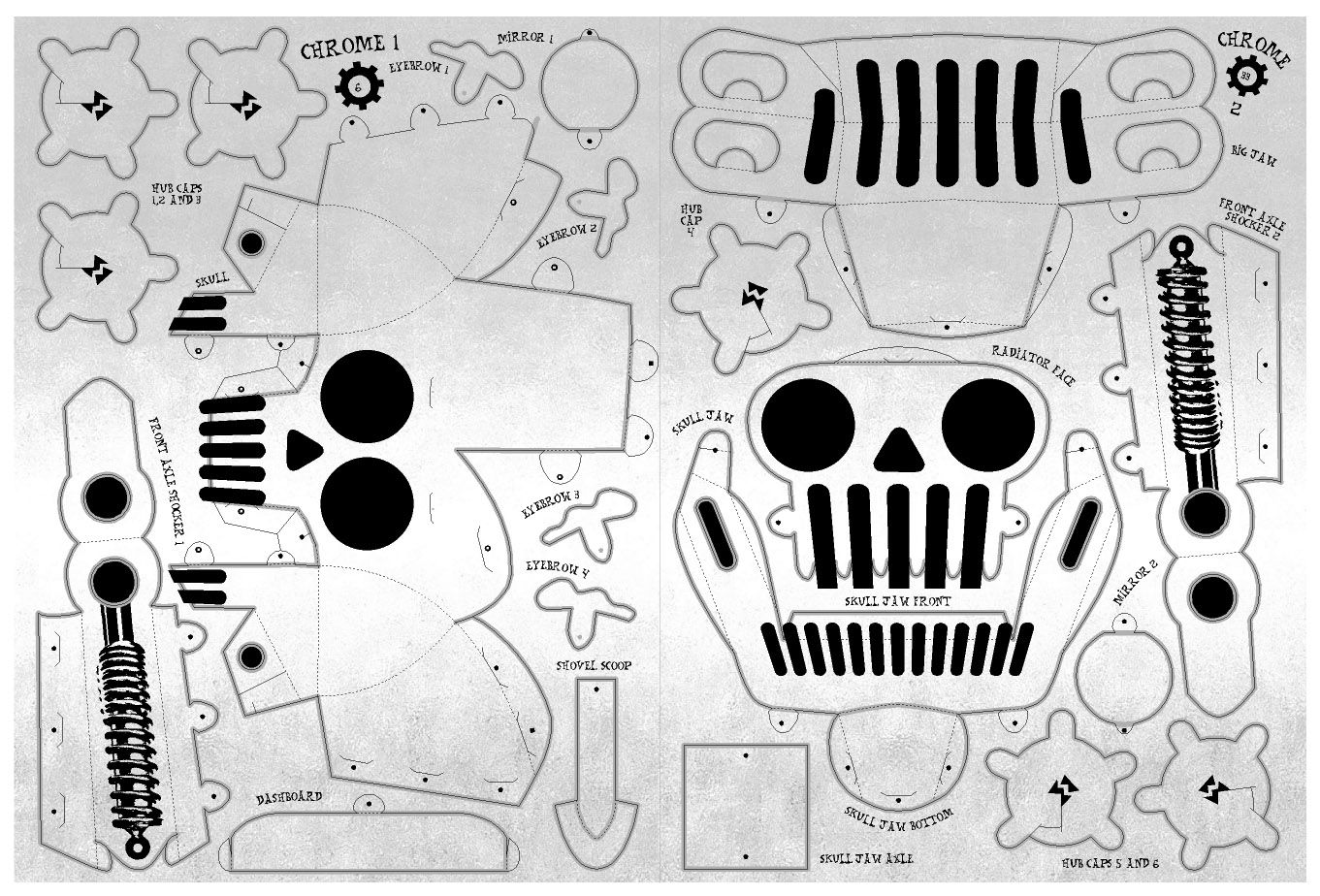 Paper Toys Car |     Monsters Paper Model cars: Motor