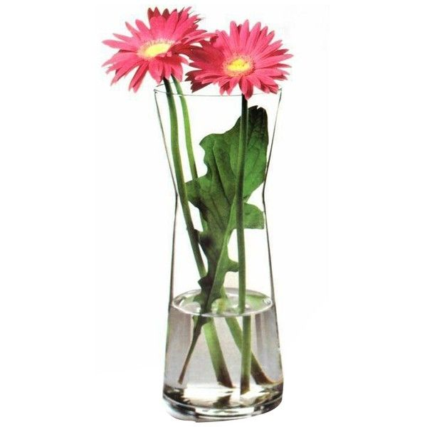 Pasabahce Glass Flower Vase liked on Polyvore featuring home