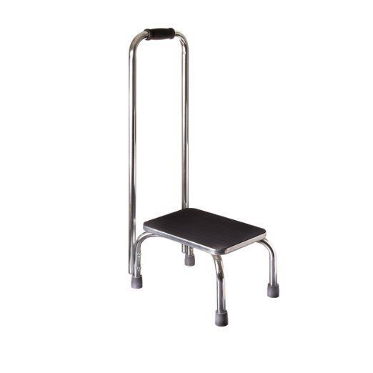 Step Stool With Handle Sturdy Support Non Slip Safe Footstool
