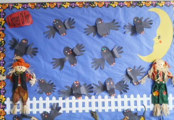 A Harvest of Fun! - Halloween Bulletin Board Idea #halloweenbulletinboards