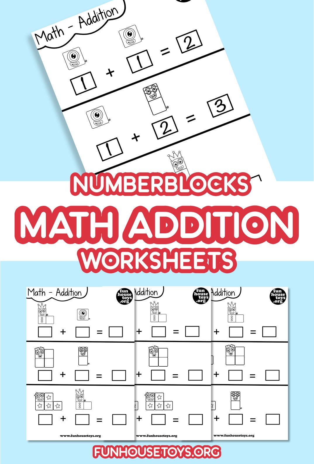 Numberblocks Math Addition Printable Sheets