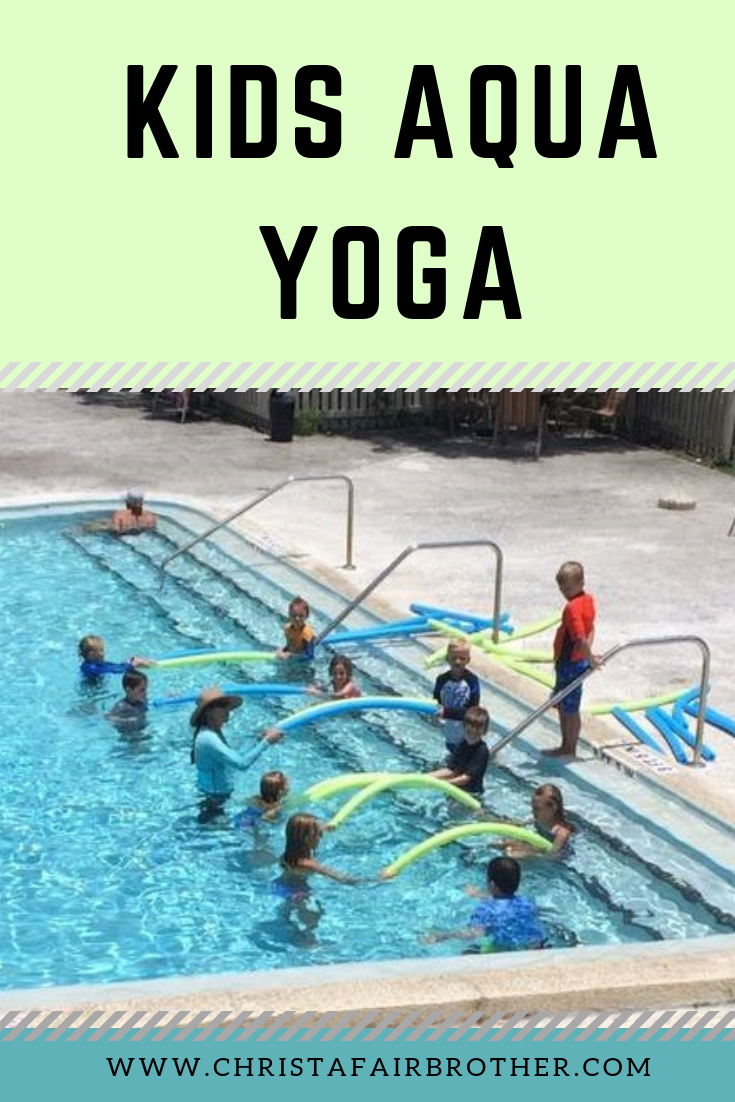 Aqua yoga for people and pros Yoga for kids, Pool