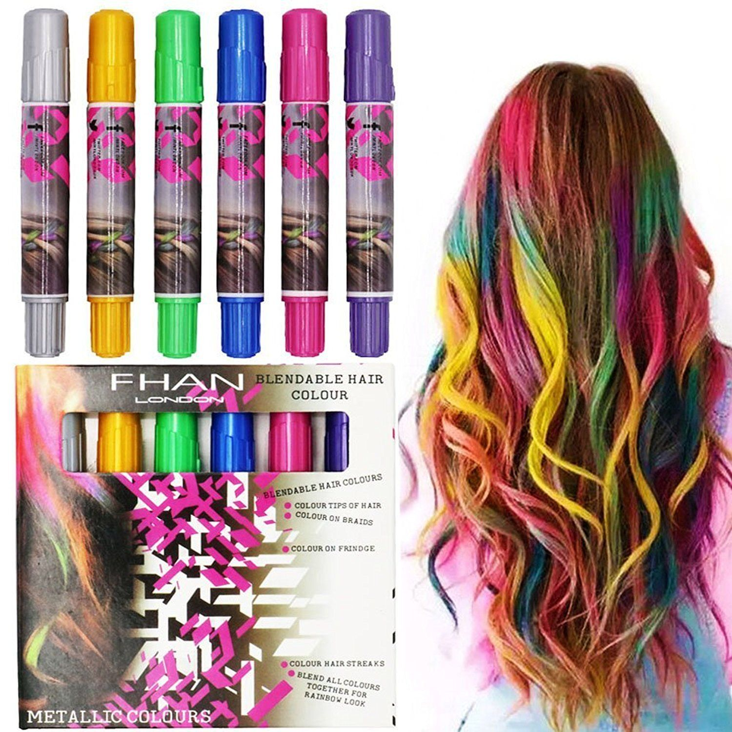Magic Beauty Hair Chalk Set Of 24 Color Sticks Of Temporary