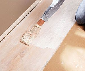 Whitewash Your Wood Floors This Weekend White Wash Wood Floors Staining Wood Floors Painted Wood Floors