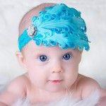 Diademas para bebés y niñas, Aquí la línea tradicional, un encaje (que no le apriete la cabecita y un adorno, puede ser una flor o un moño) ...