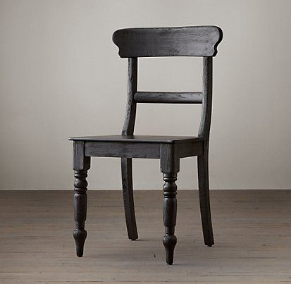 19th C English Schoolhouse Restoration Hardware Chair Side Chairs Oak Chair