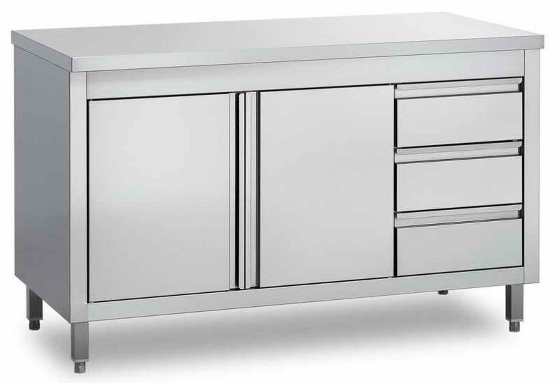 Redoutable Meuble Bas De Cuisine Avec Plan De Travail Pas Cher Kitchen Work Tables Stainless Steel Prep Table Storage