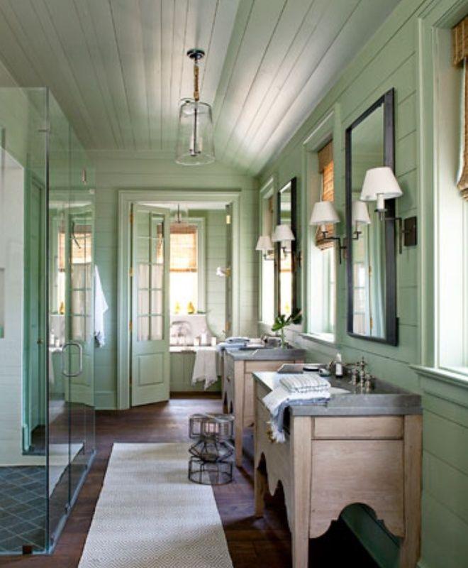 Beautiful Lake House Decor Inspiration: American Country, Beach/Coastal Bathroom