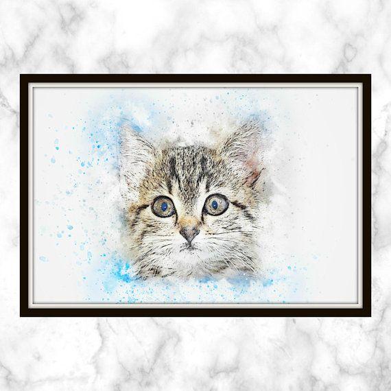Very cutet print kitten print watercolour print watercolor very cutet print kitten print watercolour print watercolor print voltagebd Gallery